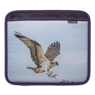 Osprey landing in the nest iPad sleeve