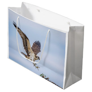 Osprey landing in the nest large gift bag