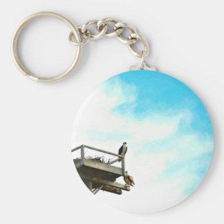 Osprey Nest Basic Round Button Keychain