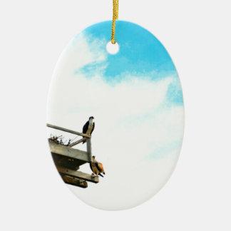 Osprey Nest Ceramic Oval Ornament