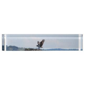 Osprey on Nest Name Plate