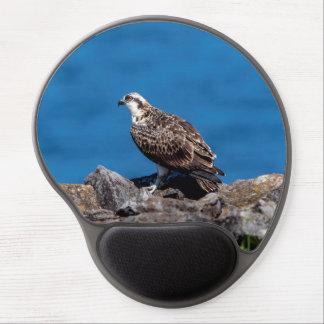Osprey on the rocks gel mouse pad