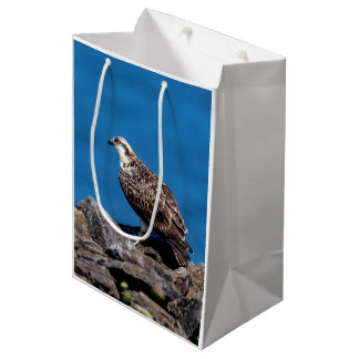Osprey on the rocks medium gift bag