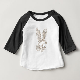 Osprey Swooping Drawing Baby T-Shirt