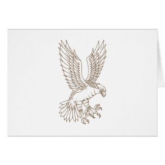 Osprey Swooping Drawing Card