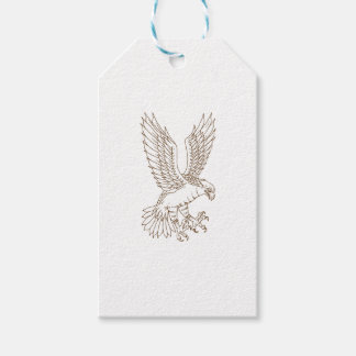 Osprey Swooping Drawing Gift Tags