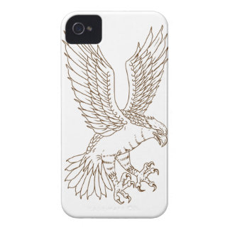 Osprey Swooping Drawing iPhone 4 Covers