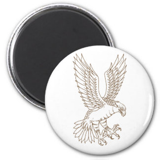 Osprey Swooping Drawing Magnet