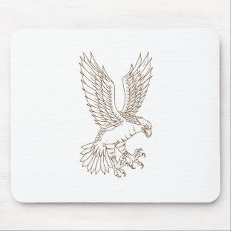 Osprey Swooping Drawing Mouse Pad