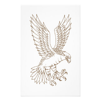 Osprey Swooping Drawing Stationery