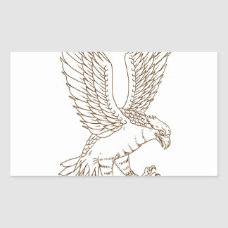 Osprey Swooping Drawing Sticker