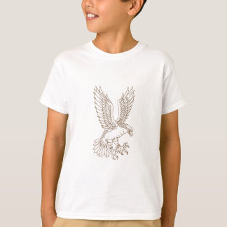 Osprey Swooping Drawing T-Shirt