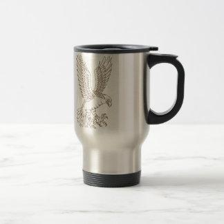Osprey Swooping Drawing Travel Mug