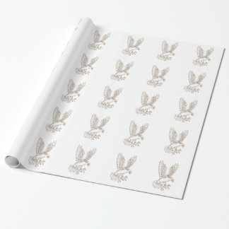 Osprey Swooping Drawing Wrapping Paper