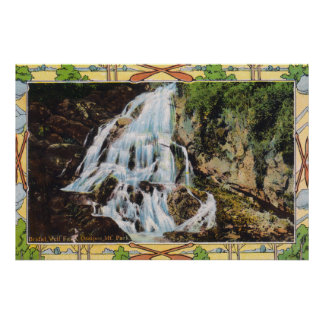 Ossipee Mountain Park View of Bridal Veil Poster