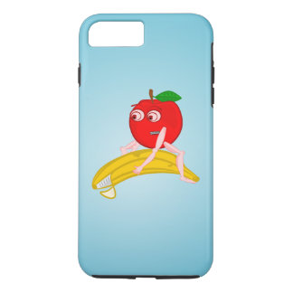 Osteopath Fruit Funny Apple Straightening a Banana iPhone 7 Plus Case