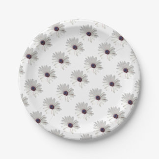 Osteospermum Daisy with Purple Centre 7 Inch Paper Plate