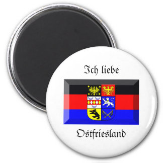 Ostfriesland Flag Gem Magnet
