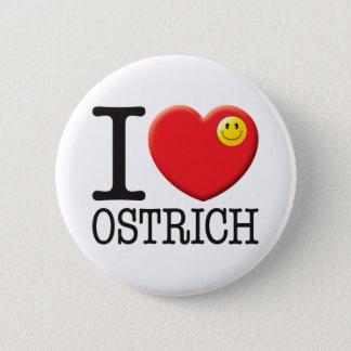 Ostrich 2 Inch Round Button