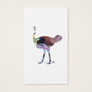 Ostrich art business card