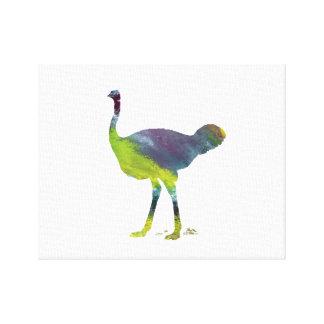 Ostrich art canvas print