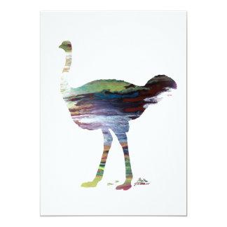 Ostrich art card