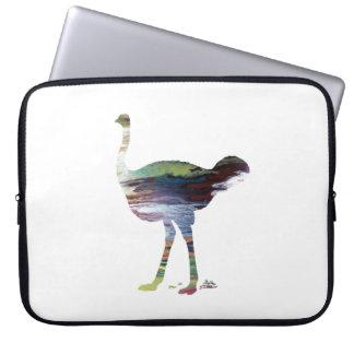 Ostrich art laptop sleeve