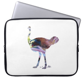 Ostrich art laptop sleeve