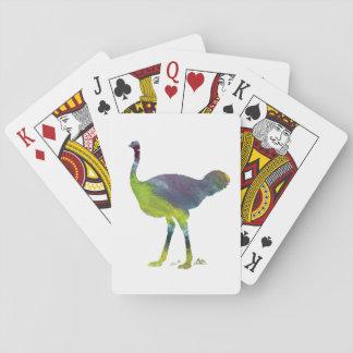 Ostrich art poker deck