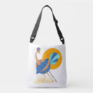 Ostrich at the Beach to Personalize Crossbody Bag