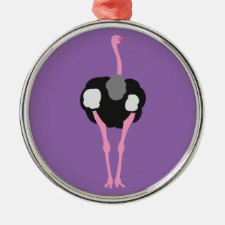 Ostrich Bird Metal Ornament