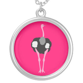 Ostrich Bird Silver Plated Necklace
