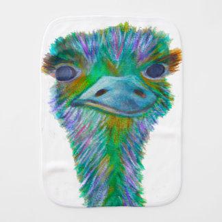 Ostrich Burp Cloth