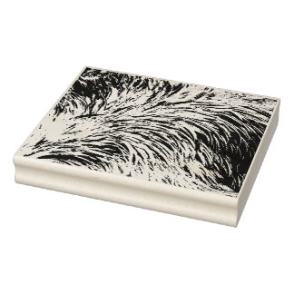 Ostrich Feather Print Design Rubber Stamp