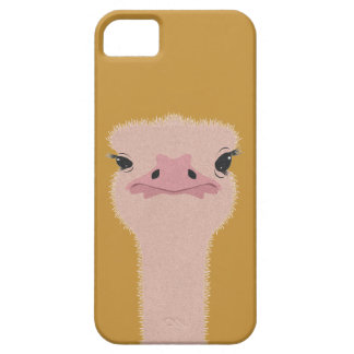 Ostrich funny face iPhone 5 cases