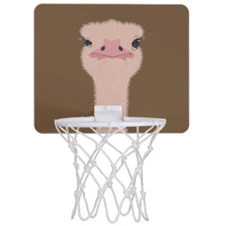 Ostrich funny face mini basketball hoop