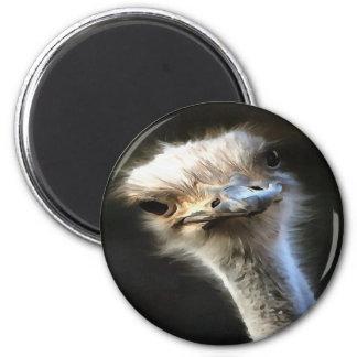 Ostrich Head 2 Inch Round Magnet
