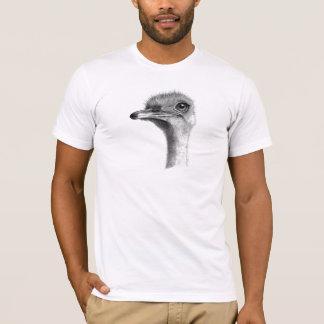 OSTRICH HEAD IN PENCIL: ART: REALISM T-Shirt