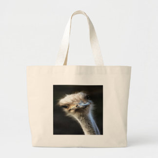 Ostrich Head Large Tote Bag
