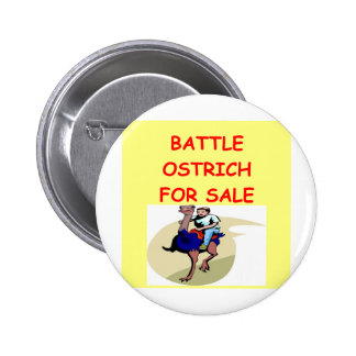 ostrich joke 2 inch round button