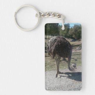 Ostrich Double-Sided Rectangular Acrylic Keychain
