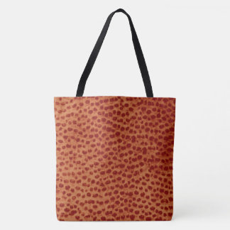 Ostrich Leather Print Tote Bag