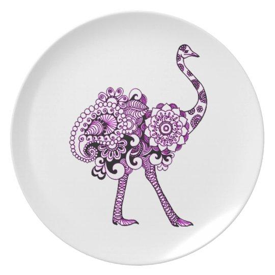 Ostrich Plate