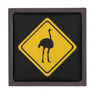 ostrich road sign premium jewelry boxes