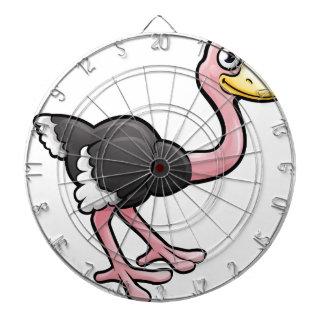 Ostrich Safari Animals Cartoon Character Dartboard With Darts