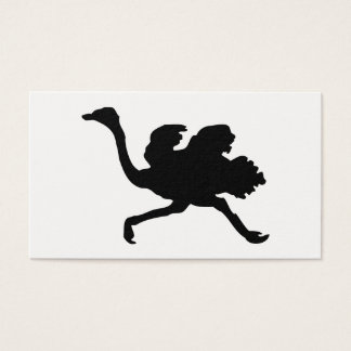 Ostrich Silhouette Business Card