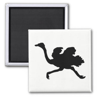 Ostrich Silhouette Magnet