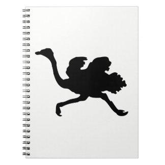 Ostrich Silhouette Notebooks