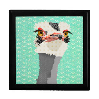 Ostrich Turqoise Gift  Box Trinket Box