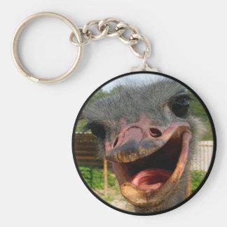 Ostrich What's Up Keychain Basic Round Button Keychain